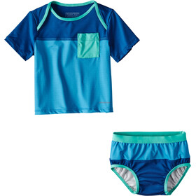 Patagonia Infants Little Sol Swim Set Radar Blue